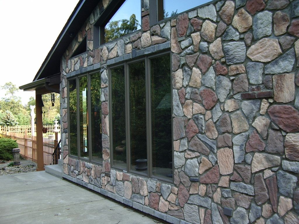 Fieldstone siding made and installed by the homeowner for pennies ...