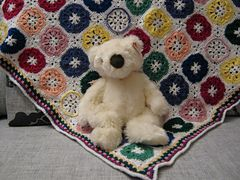 Crayon colored afghan (pattern) by Roseanna Beck