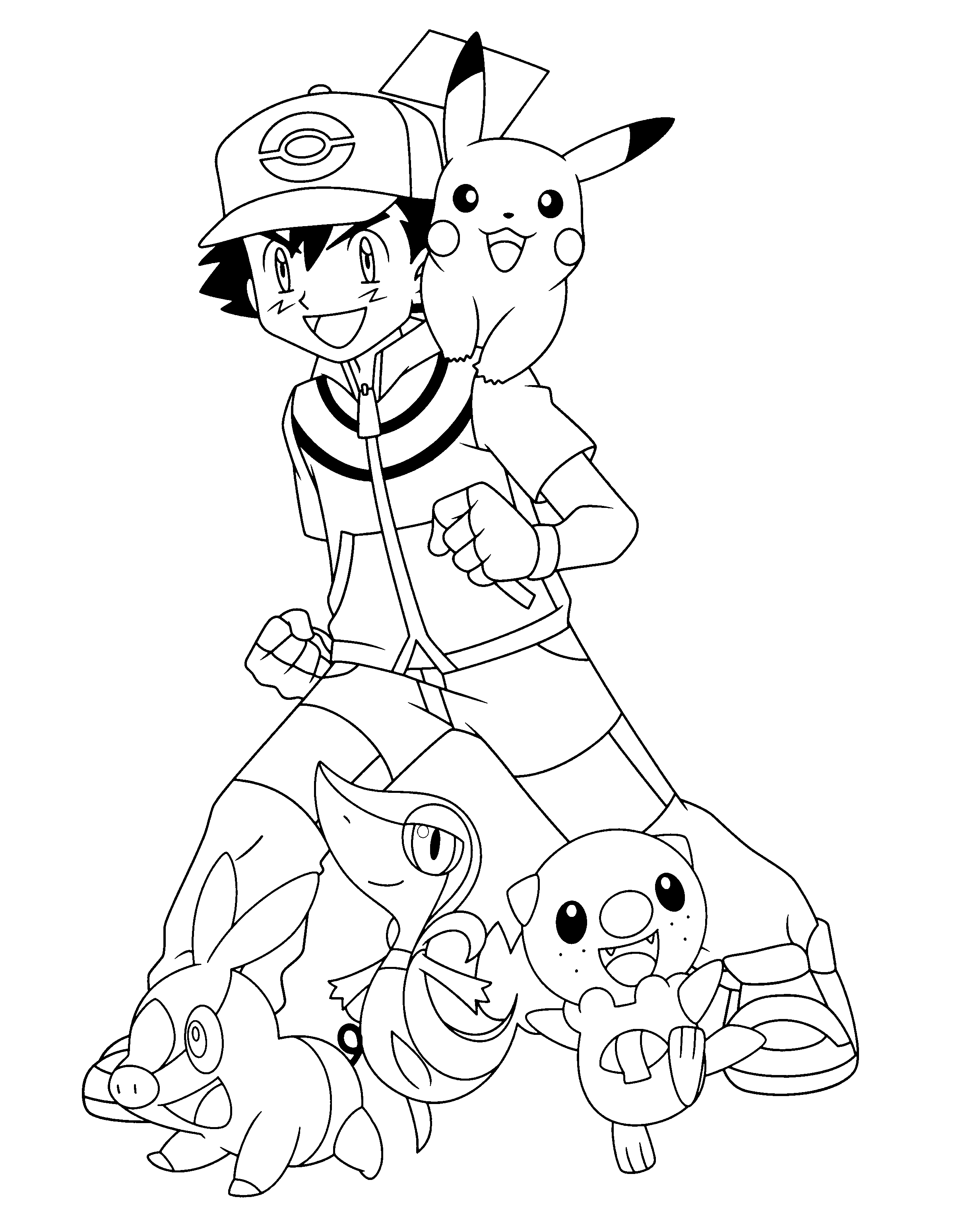 Free Download Pokemon Ash Coloring Pages   Pokemon coloring pages ...
