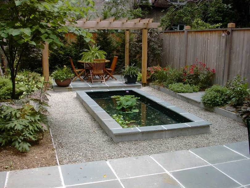 Could we use cinder blocks instead of boulders to hold for Modern fish pond ideas