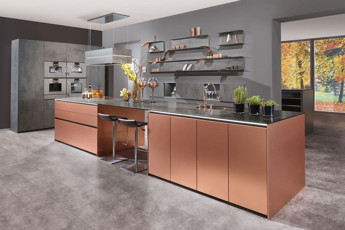 Metallic Copper Kitchen From Beckermann Beautiful In The
