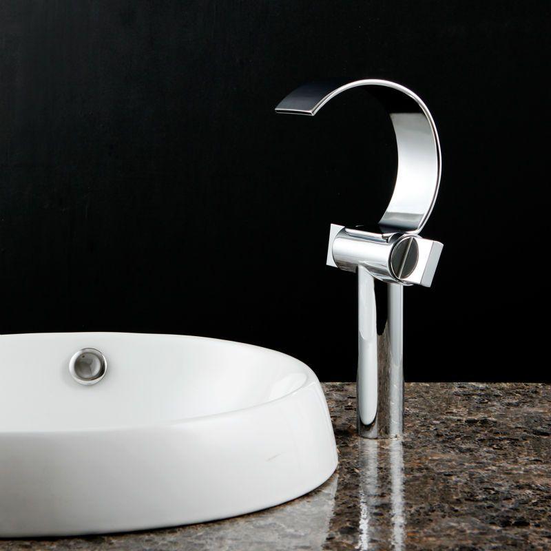 Superfaucet Deck mounted Chrome Brass Waterfall Bathroom Basin ...