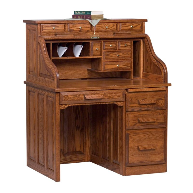 Pedestal Rolltop Desk