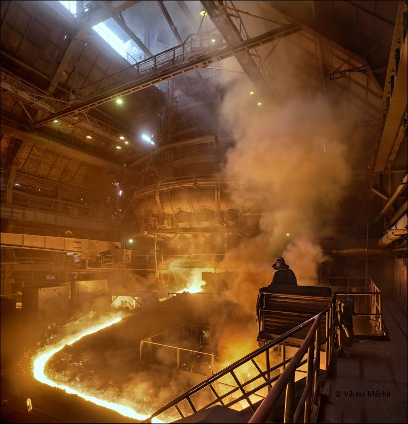Tapping The Blast Furnace Industrial Industrial