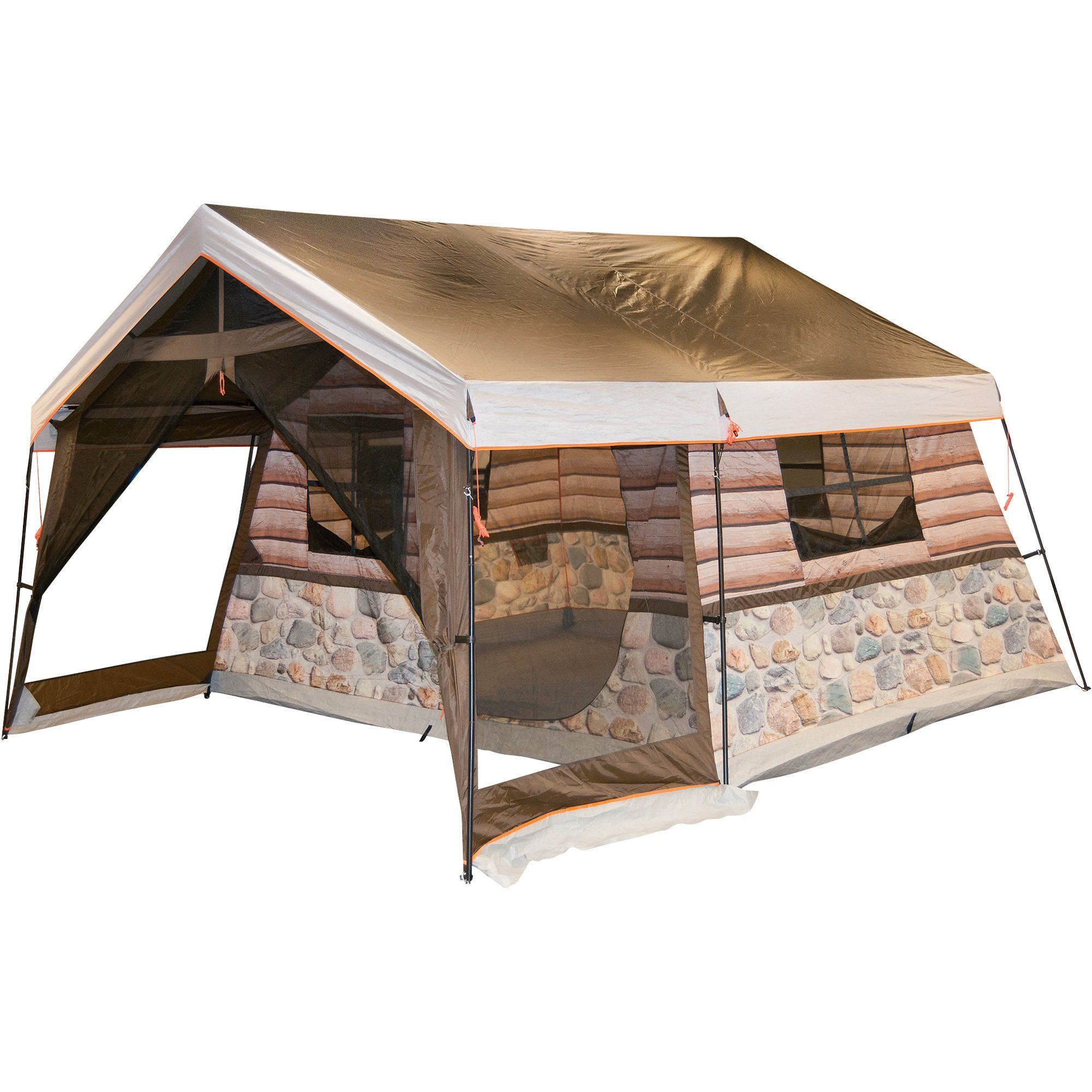 Timber Ridge 8-Man Log Cabin Tent  sc 1 st  Pinterest : timber ridge tent - memphite.com
