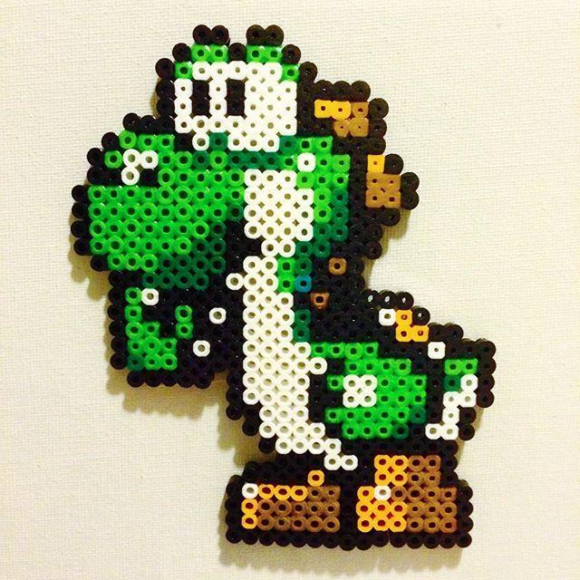 Yoshi Perler Beads By Amanda Collison Bugelperlen Basteln
