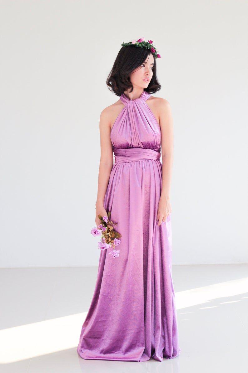 Lavender Velvet Bridesmaid Dress Lilac Infinity Dress Prom Etsy Lilac Bridesmaid Dresses Velvet Bridesmaid Dresses Lilac Dress [ 1191 x 794 Pixel ]