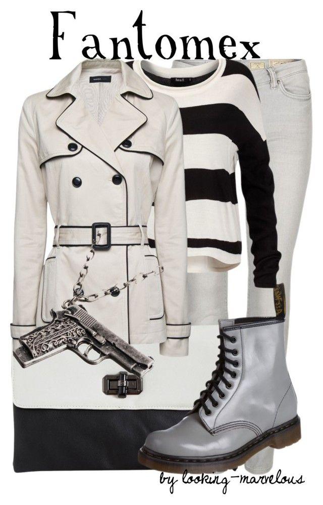 fantomex by marvel-ous on Polyvore featuring polyvore fashion style Rut m.fl. MANGO AllSaints Dr. Martens Bardot Club Manhattan clothing