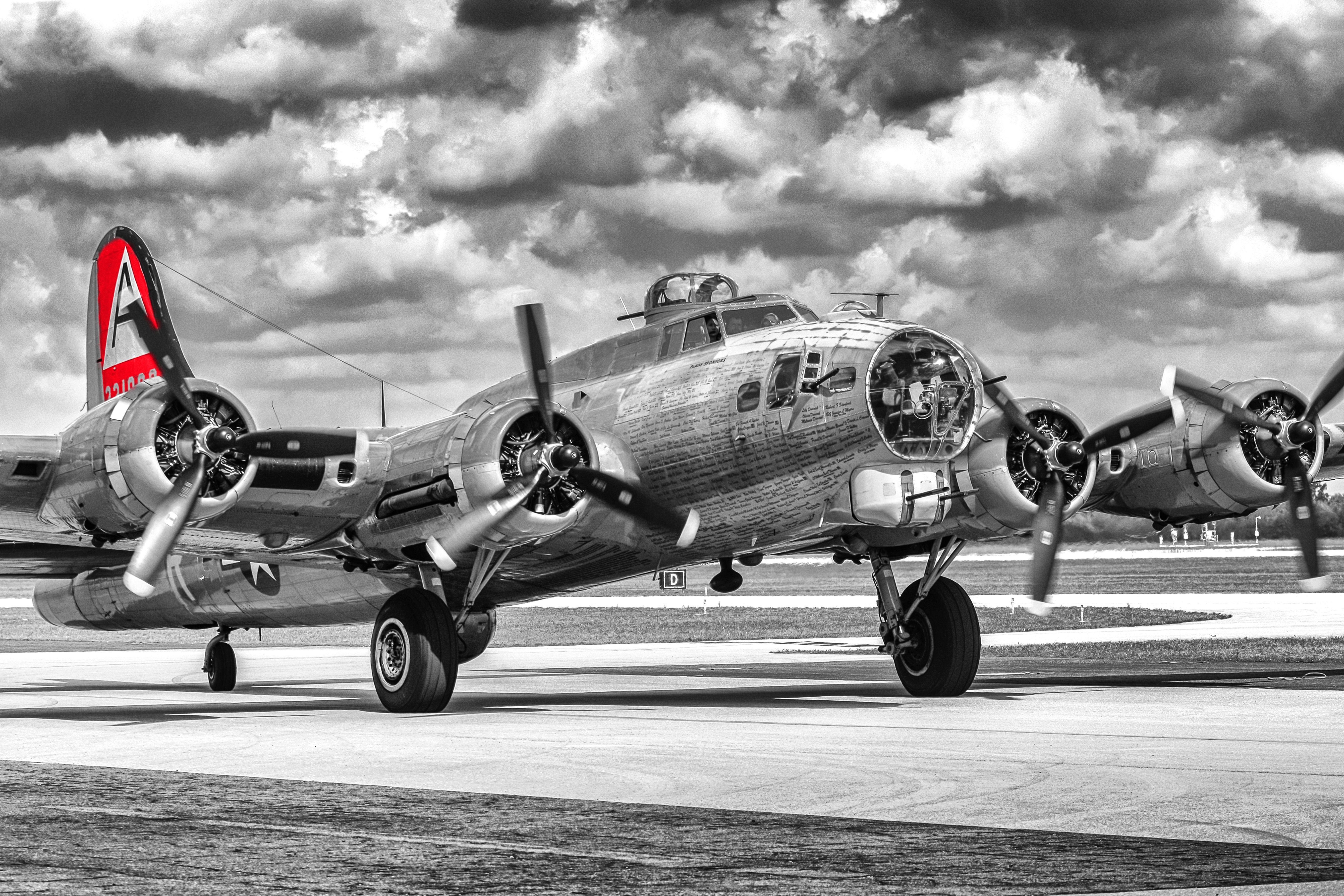 red tailed b17 flying fortress bomber plane photo sizes from 12x18