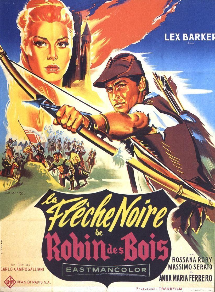 La Flèche Noire De Robin Des Bois Film 1958 Fan De Cinéma Robin Des Bois Affiche De Film Film