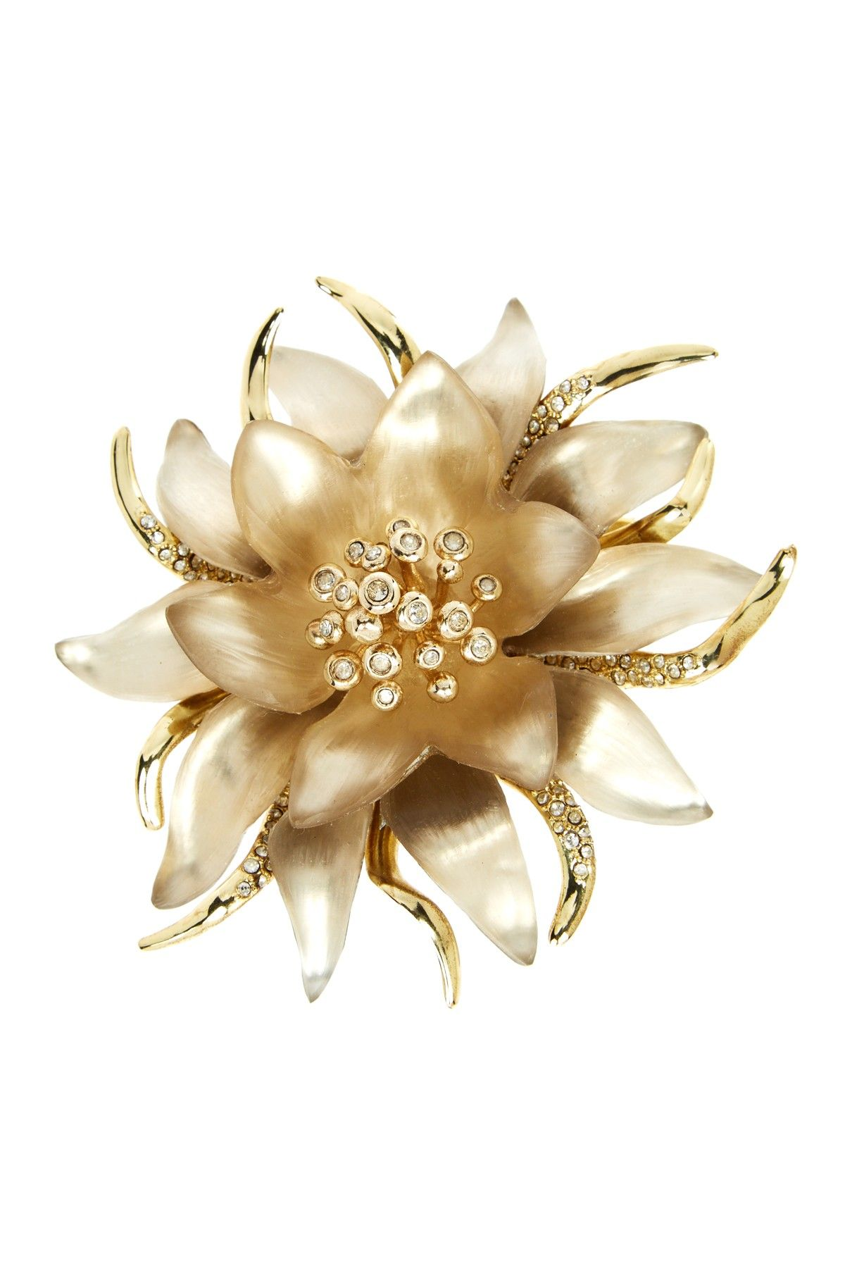 Lucite Flower Pin by Alexis Bittar on @HauteLook