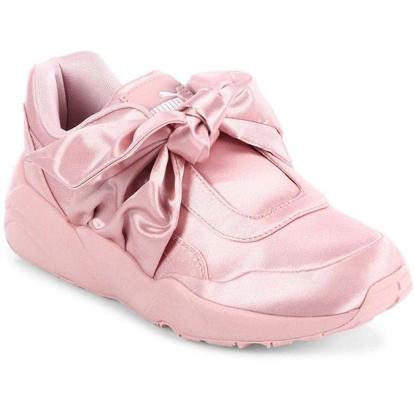 PUMA FENTY Puma x Rihanna Satin Bow Sneakers ( 160) ❤ liked on Polyvore  featuring shoes 6cfce8833