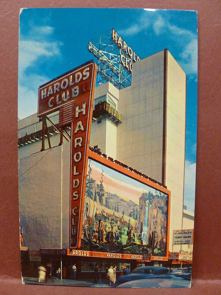 Old Postcard Harolds Club Casino Reno, NV in Collectibles