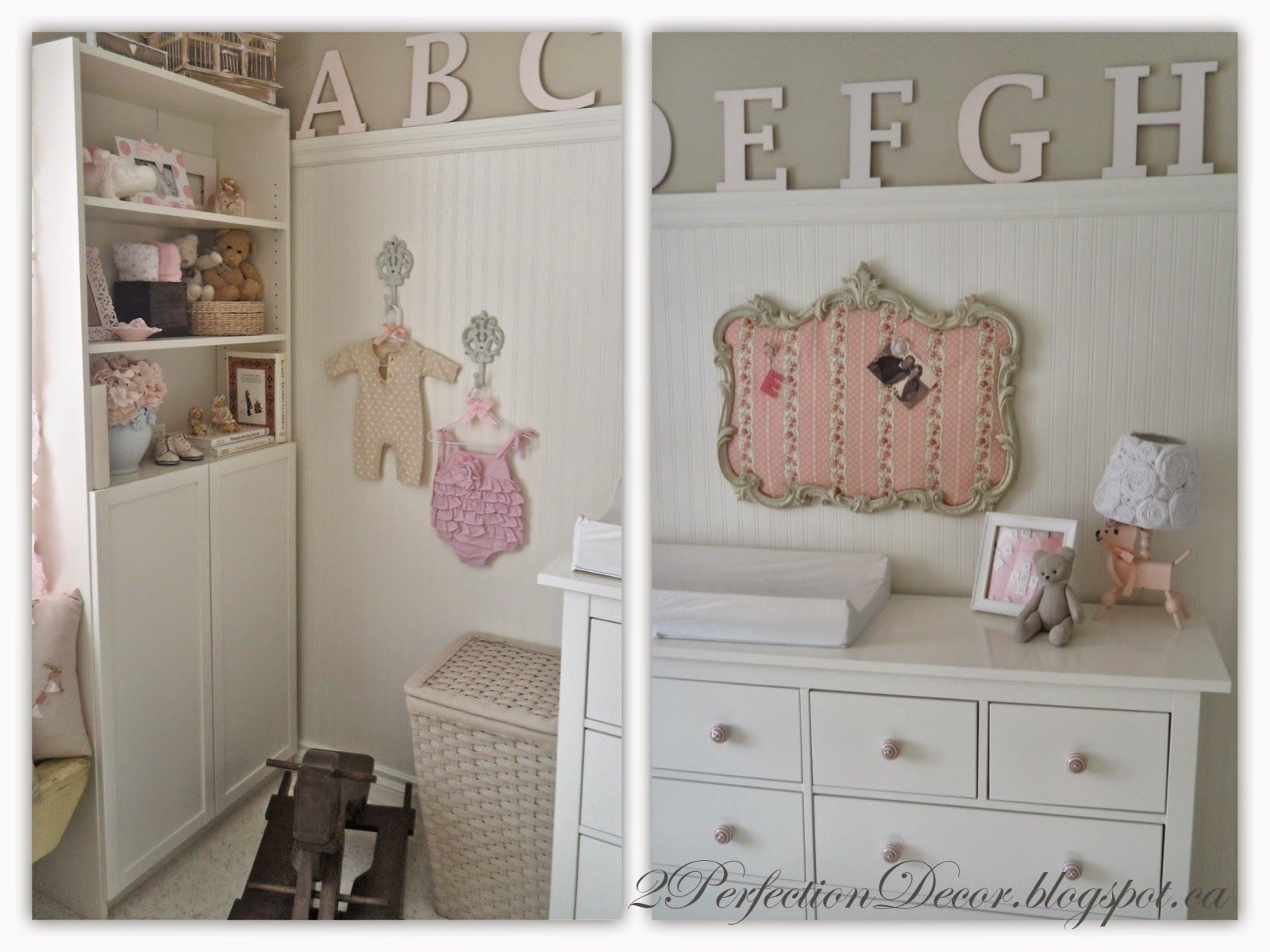 Shabby Chic Nursery Reveal, Cottage Chic Nursery, Painted Wooden Letters