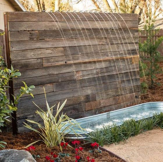 This DIY Water Feature Is Rustic