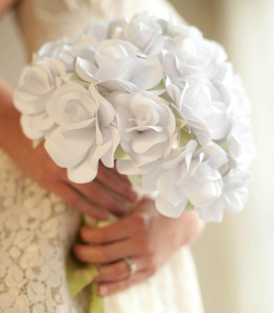 Tutorial Bouquet Sposa.Tutorial Bouquet Sposa Con Rose Di Carta Comunione Cresima