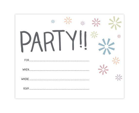 party invitation printable pdf
