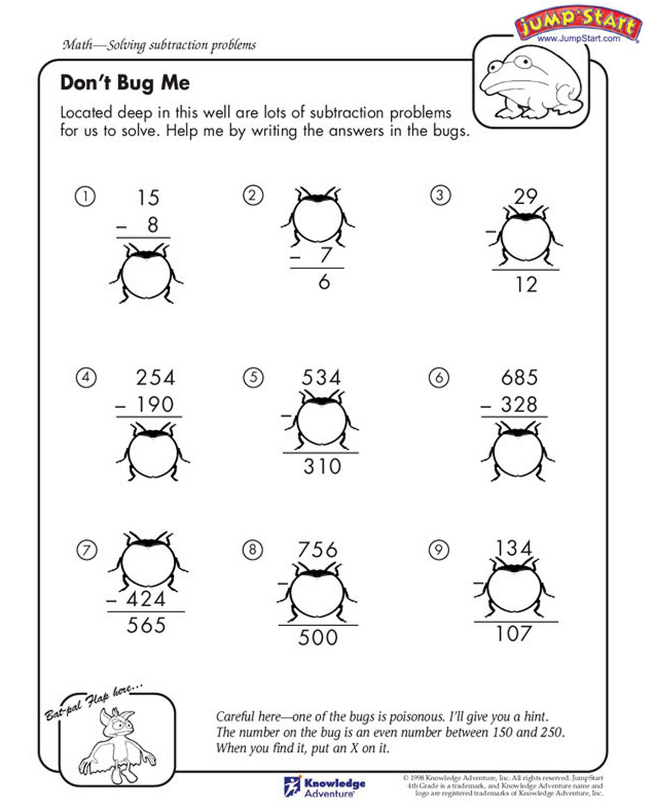 If You Solve This Math Sheet Real Quick These Creepy Bugs