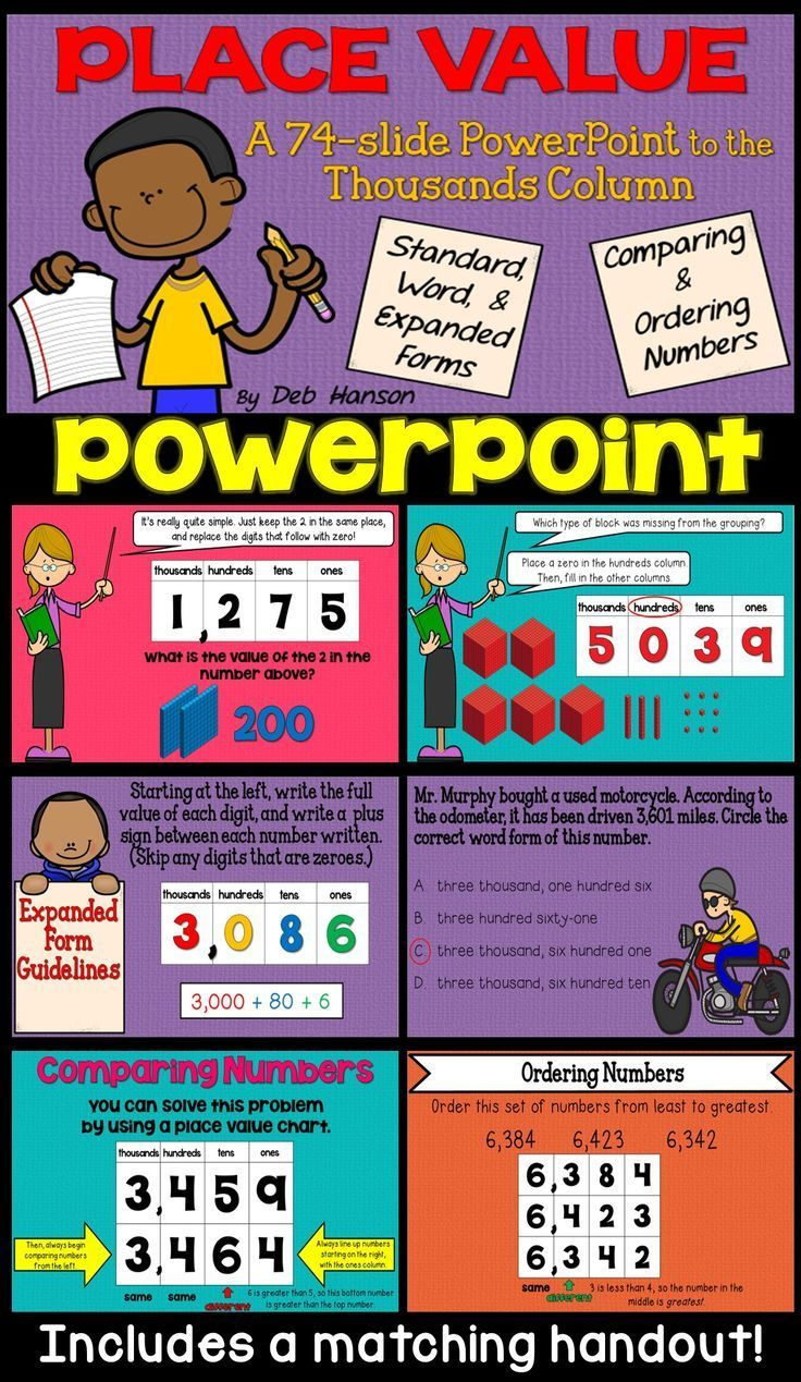 Place Value Powerpoint For 3rd Grade Math Ideas