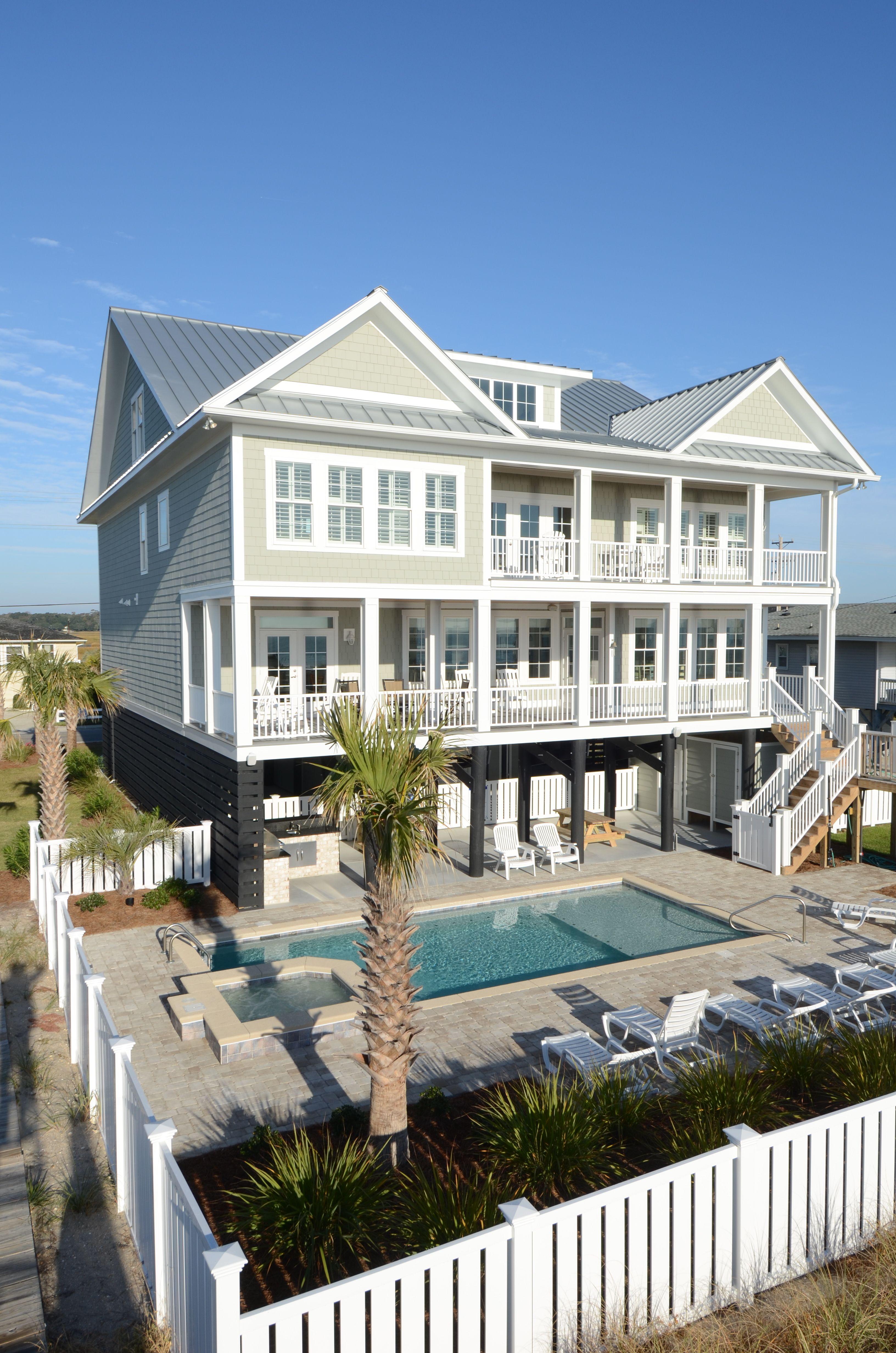 Crg Construction Custom Built Oceanfront Home In Garden City Beach Sc Garden City Beach Build Your Dream Home Garden City