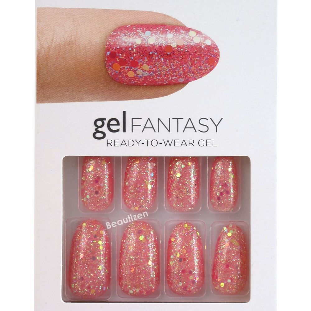 KISS GEL FANTASY Glue-on 24 Nails Kit Long KGN53 | Artificial nails ...