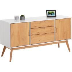 Photo of Skjenk Tivoli 2 dører 3 skuffer Skandinavisk design, hvit / beiset Idimex