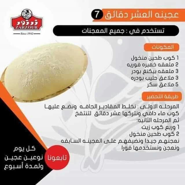طريقة عمل عجينة العشر دقائق Arabic Food Cooking Recipes Desserts Palestinian Food