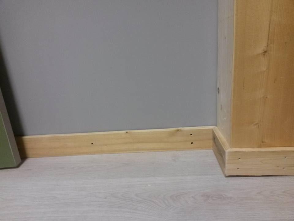 Plinthes en bois u2013 Il y a une vie après la palette Bricolage - Plinthe Salle De Bain
