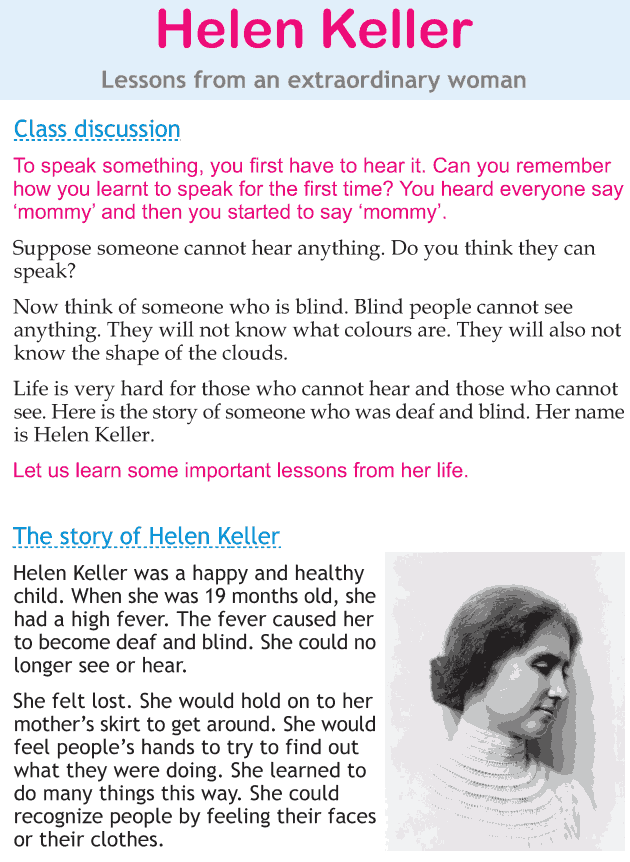 Personality development course grade 2 lesson 21 Helen Keller (1 ...