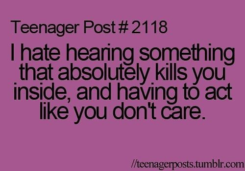 Ikr... Especially if ur around one of those people that go out of their way to annoy u and u just have to pretend u don't care so they just shut up 😂