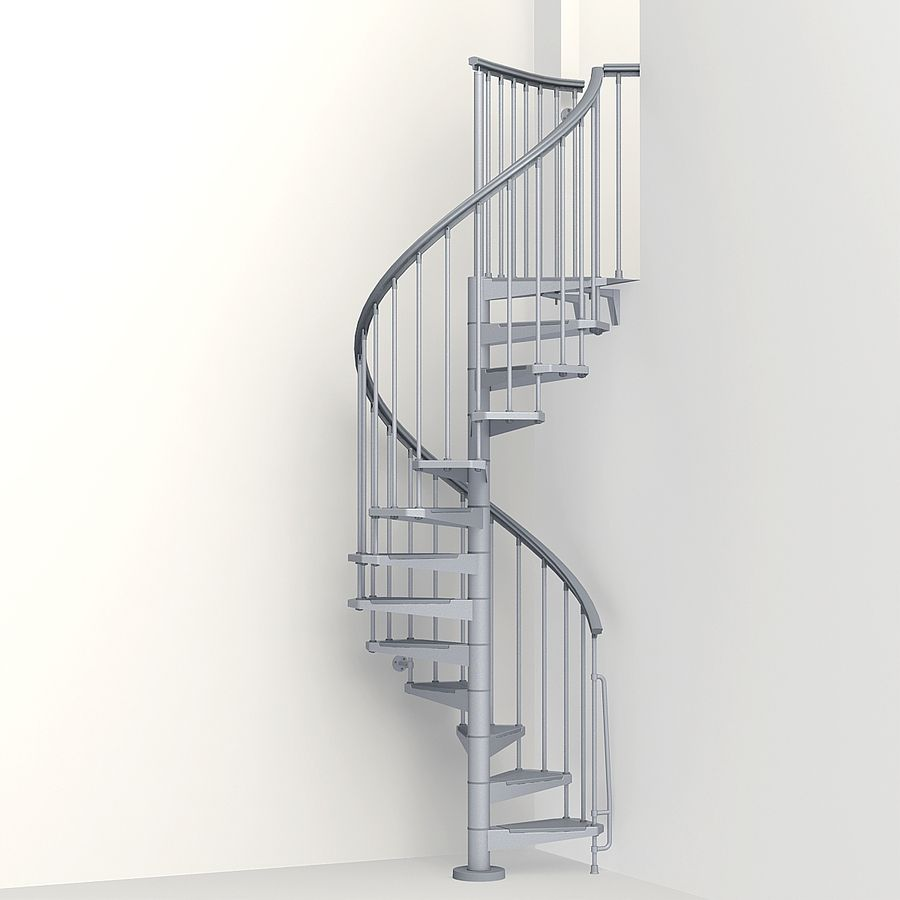 Best Arke Eureka 47 In X 10 Ft Gray Spiral Staircase Kit 400 x 300