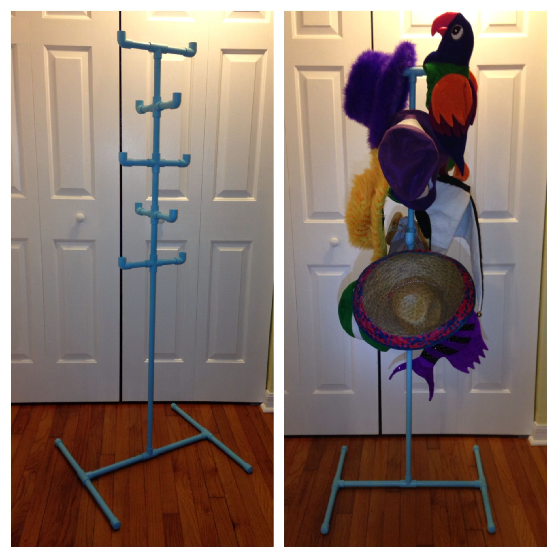 Photo Booth Display - PVC Hat Rack