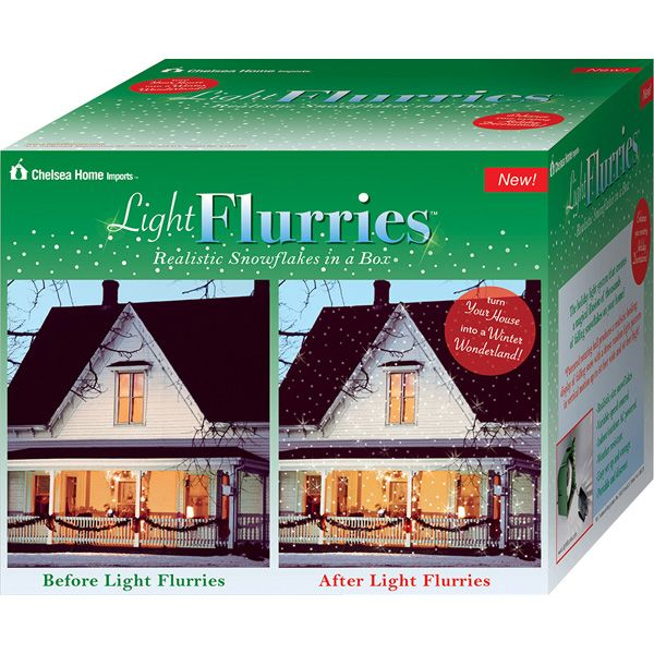 Light Flurries Falling Snowflakes Light Projector