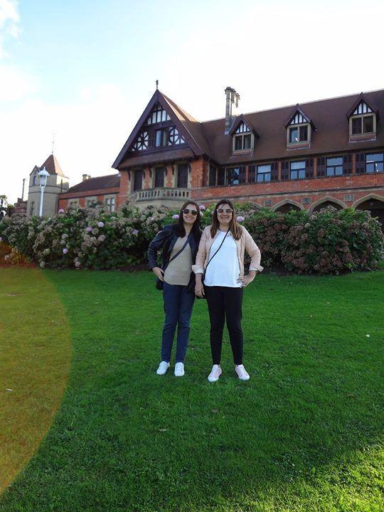 Irmãs gêmeas Eliane e Cristiane L Fossatti em Donostia de San Sebastian