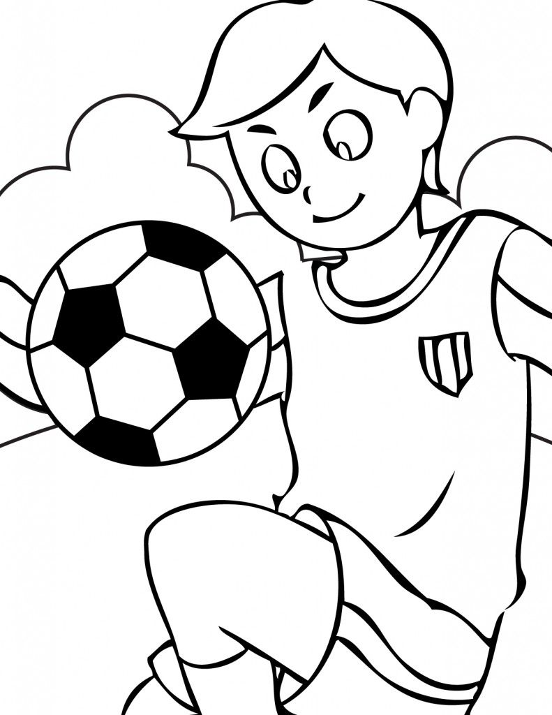 Girl Soccer Balls Colouring Pages Page 2 Sports Coloring Pages