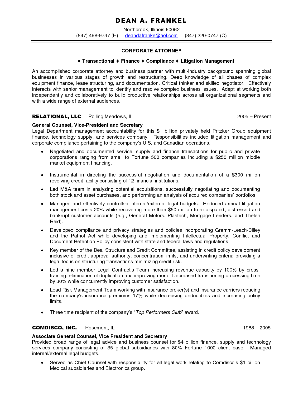 Bilingual Attorney Sample Resume Technology Assistant Cover Letter