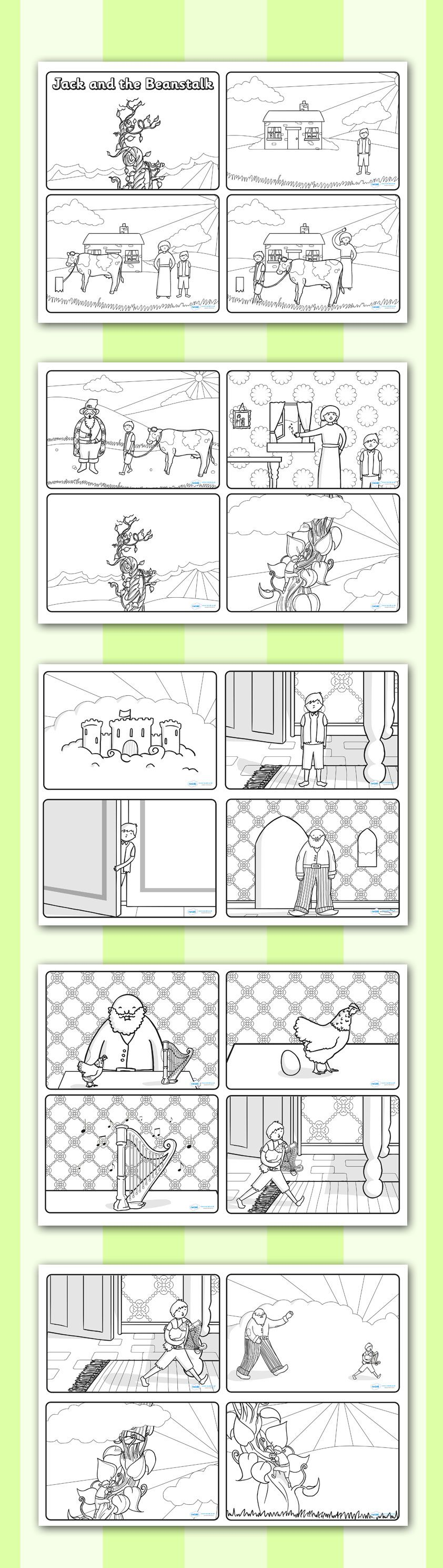 worksheet Jack And The Beanstalk Worksheets jack and the beanstalk story sequencing twinkl resources 4 per a4