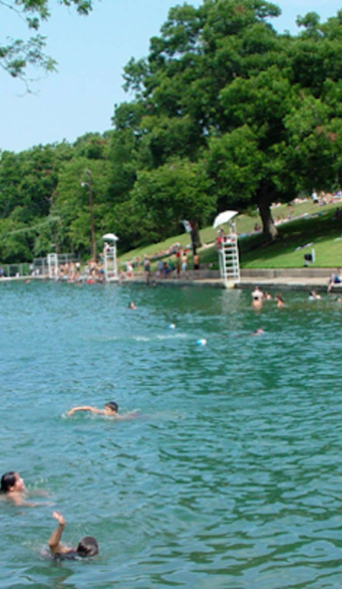 Barton Springs Swimming Hole Is A Massive 3 Acre Texas Spring Fed Pool Swimming Holes Acre