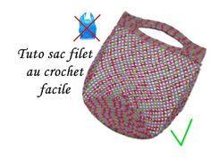 les tutos de fadinou tuto sac filet au crochet facile sac provision pinterest crochet. Black Bedroom Furniture Sets. Home Design Ideas