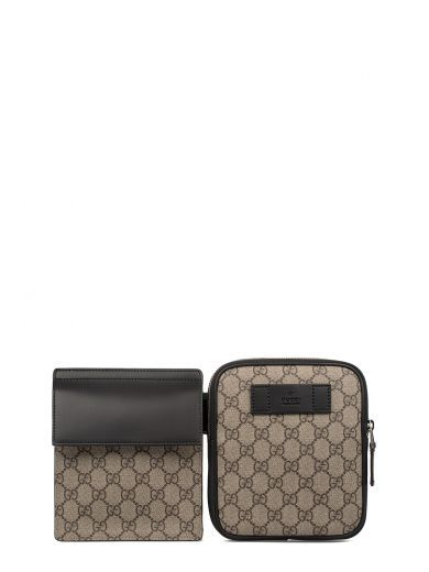5ef3c97f31b GUCCI Sand Brown Black Gg Supreme Bag Belt.  gucci  shoulder bags  leather   pouch  accessories