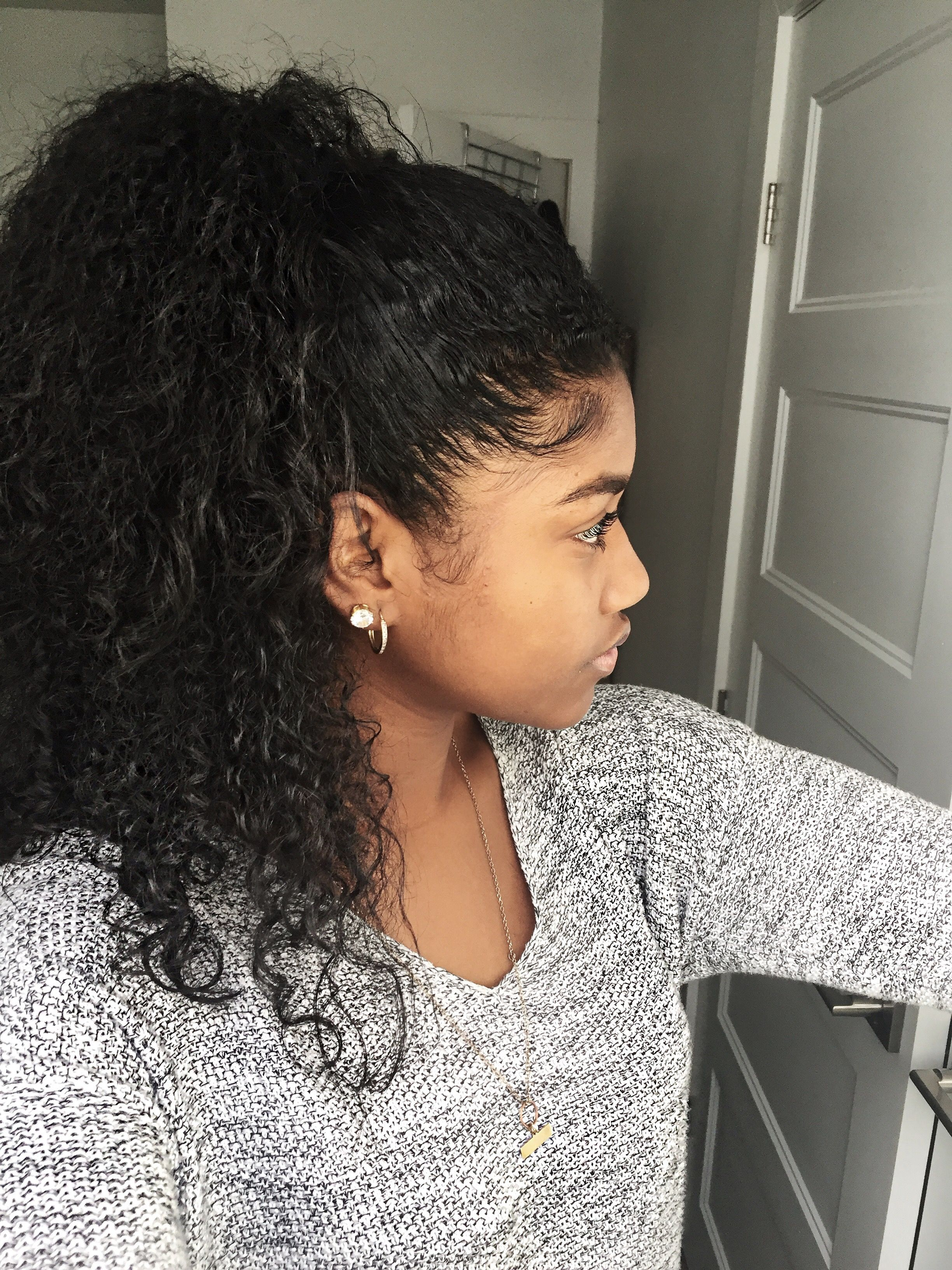 Natural Curly Hairstyles for Black Girls Half Up Half Down ...