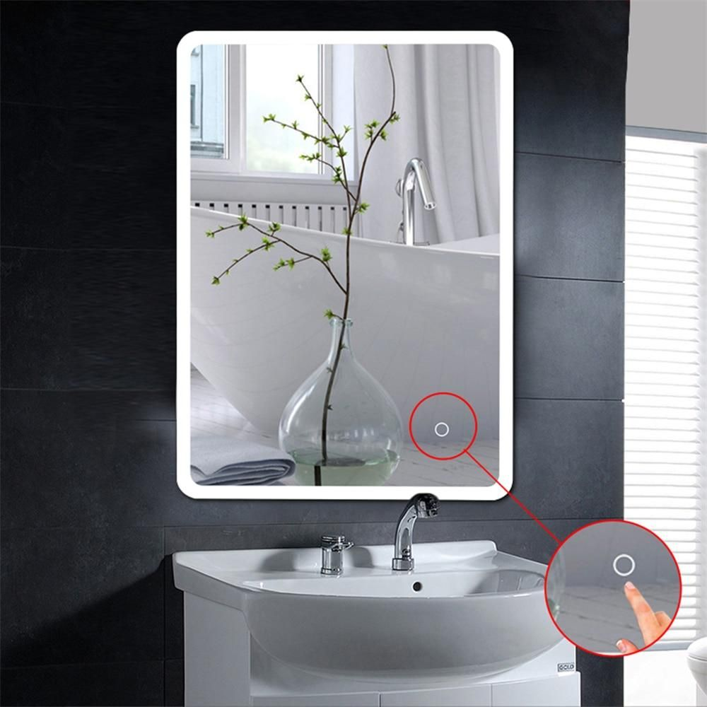 Modern Bathroom Mirror LCD Light Up Cosmetic Make-up Mirror