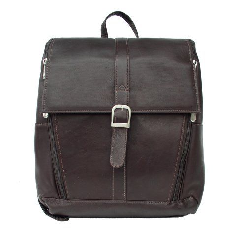Piel Leather Slim Computer Backpack Chocolate One Size -- Learn more by visiting the image link.