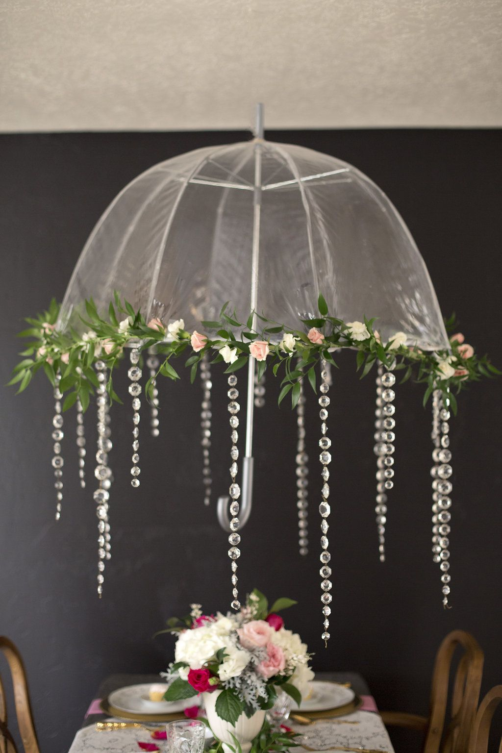 French country bridal shower inspiration shower for Decor umbrellas
