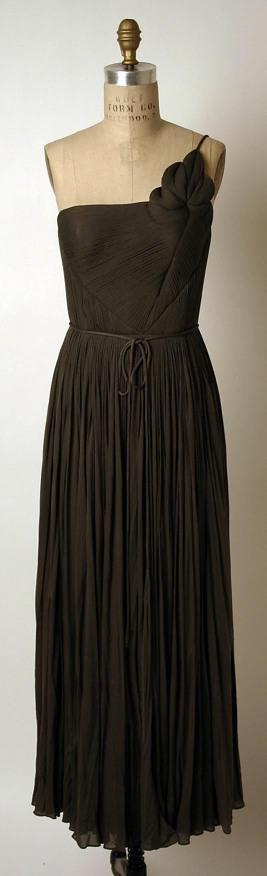 Ensemble, Madame Grès, 1960s, silk and nylon, Metropolitan Museum of Art