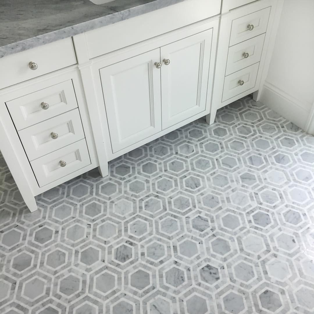 this stunning hexagon marble floor