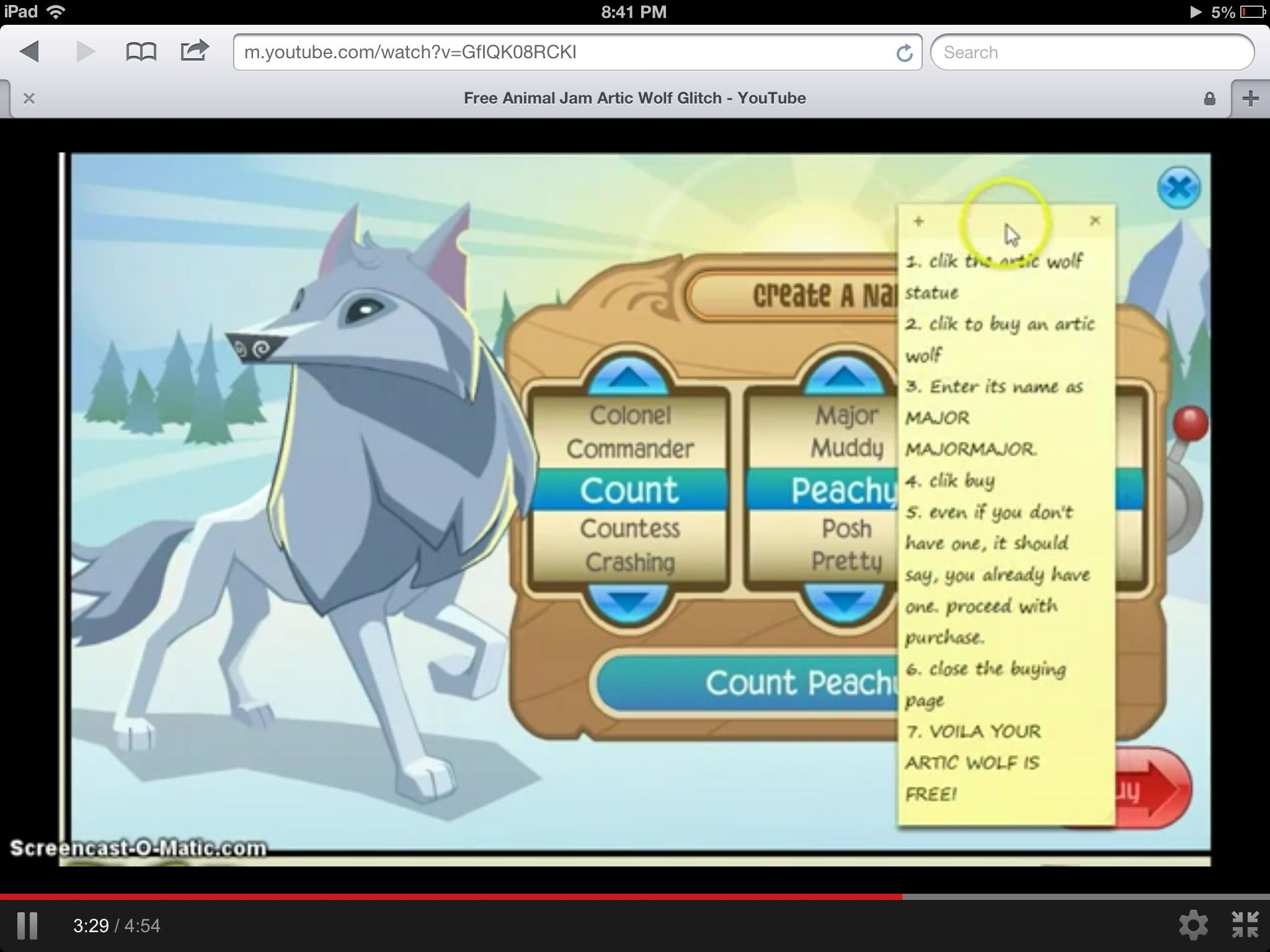 Aparently This Is How U Get A Free Arctic Wolf Btw My Name Is