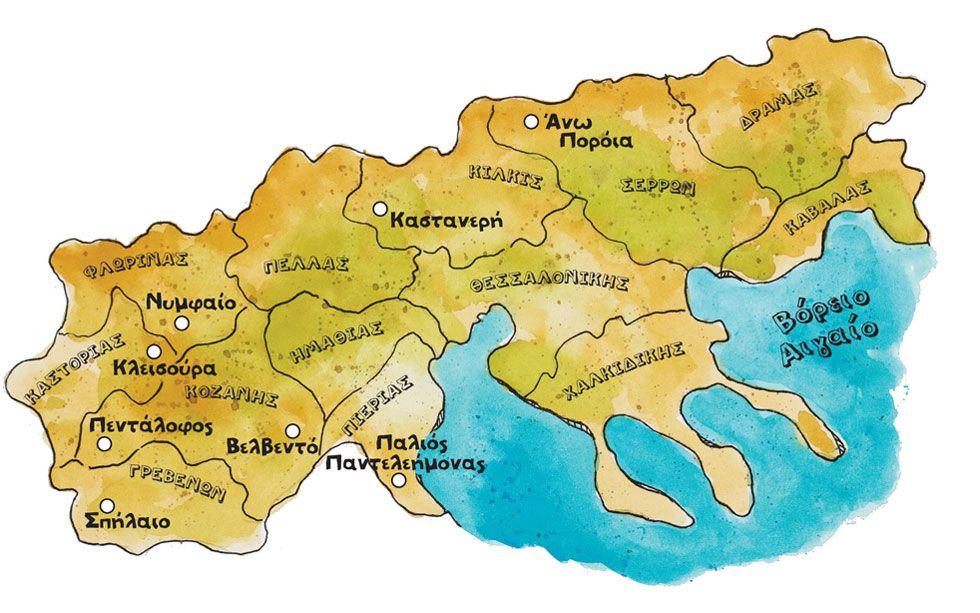 8 3exwrista Makedonitika Xwria Greece Macedonia Historical