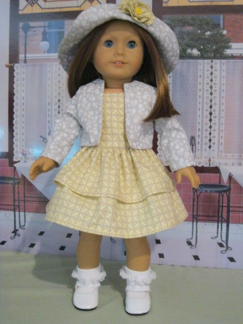 """Springtime Ensemble for Grace. Kit, Molly Fits 18"""" American Girl Doll Clothes #Handmade #DollClothes"""