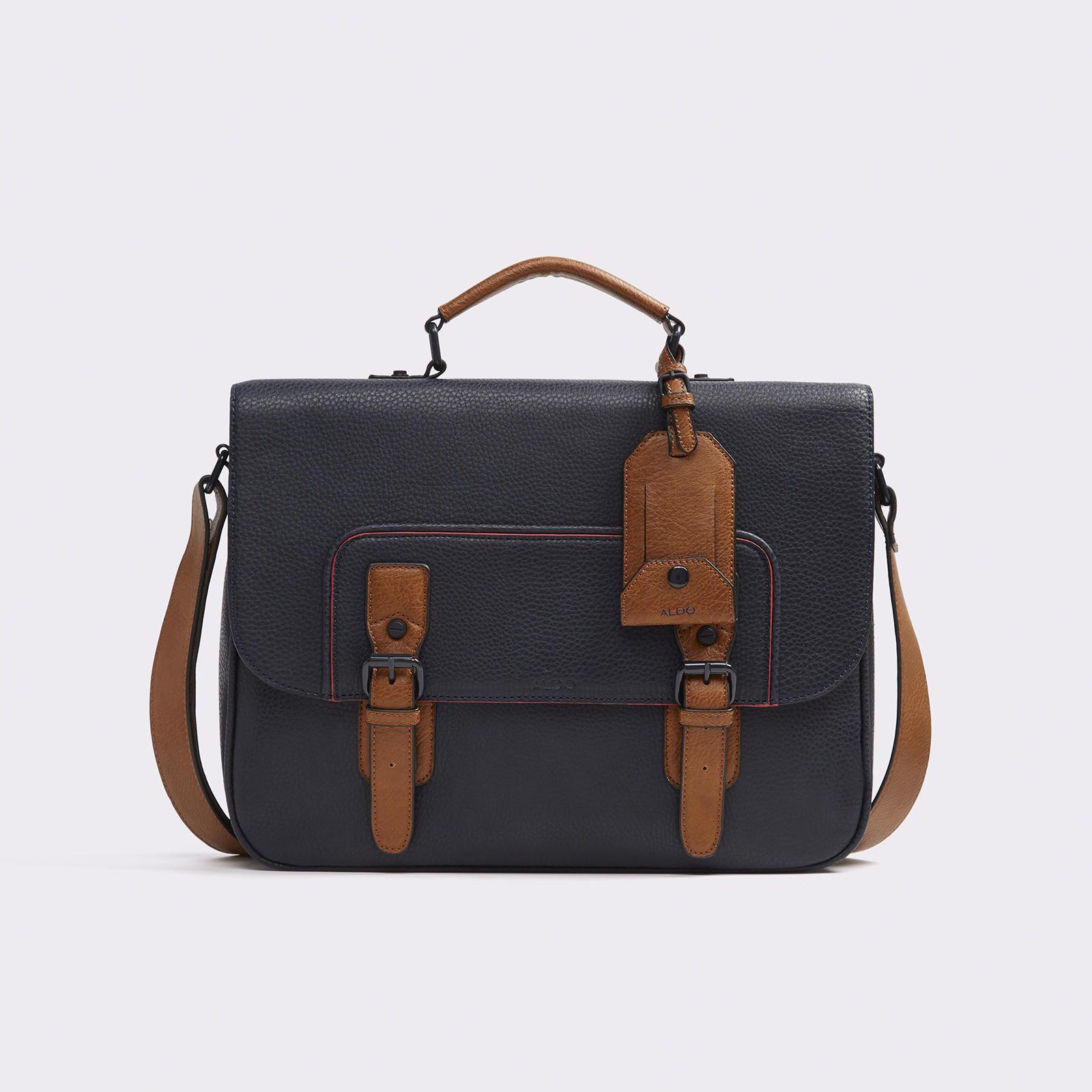 Men/'s Leather Bag Medium Messenger Laptop Shoulder Briefcase Handbag Brown Bags